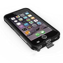 iPhone 6/6s Waterproof Case, FITFORT Waterproof Shockproof Dirtproof Snowproof Full Sealed Case or Cover for iPhone 6s/6(4.7-inch)(Black)
