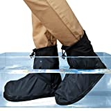 ARUNNERS Black Rain Boots Covers Shoes Overshoes Galoshes for Men(4XL)