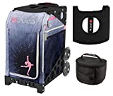 Zuca Ice Dreamz Lux Sport Insert Bag & Black Frame w. Lunchbox and Seat Cushion