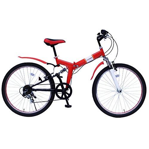 折畳み自転車 FIELD CHAMP WサスFD-MTB266S MG-FCP266E【代引不可】 生活用品 インテリア 雑貨 自転車(シティーサイクル) 折り畳み自転車 top1-ds-1988999-ah [簡素パッケージ品] B078M1X4H2