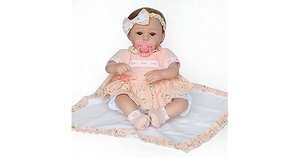 Amazon.com: Pausseo - Muñeca de silicona para bebé, 19.7 in ...