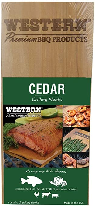 Western Premium BBQ Products Cedar Grilling Planks; Fish~Vegetable And More 2pk