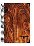 "Blue Ox Day Planner 2018 Calendar Year + HARD COVER + Daily Planner - Passion/Goal Organizer - Monthly Datebook and Calendar - January 2018 - December 2018 - 6"" x 8.25"" - Light Woodgrain Pattern"