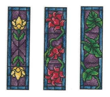 Stained Glass Bookmarks Cross Stitch ()