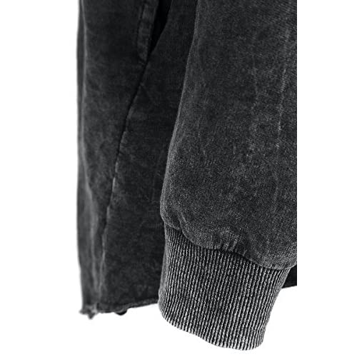 Forplay Cremallera Asimétrica Vintage Chaqueta con capucha Mujer Negro L4a6QX