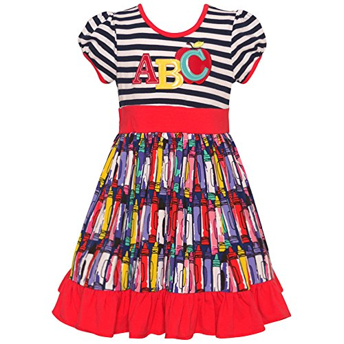 Rare Editions Little Girls Red Navy