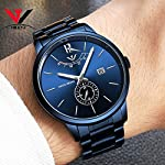 51x7pEyO07L. SS150  - NIBOSI Mens Analogue Quartz Watch with Stainess Steel Strap Top Brand Luxury Business Quartz Watch Men Full Steel Fashion Waterproof (Blue)