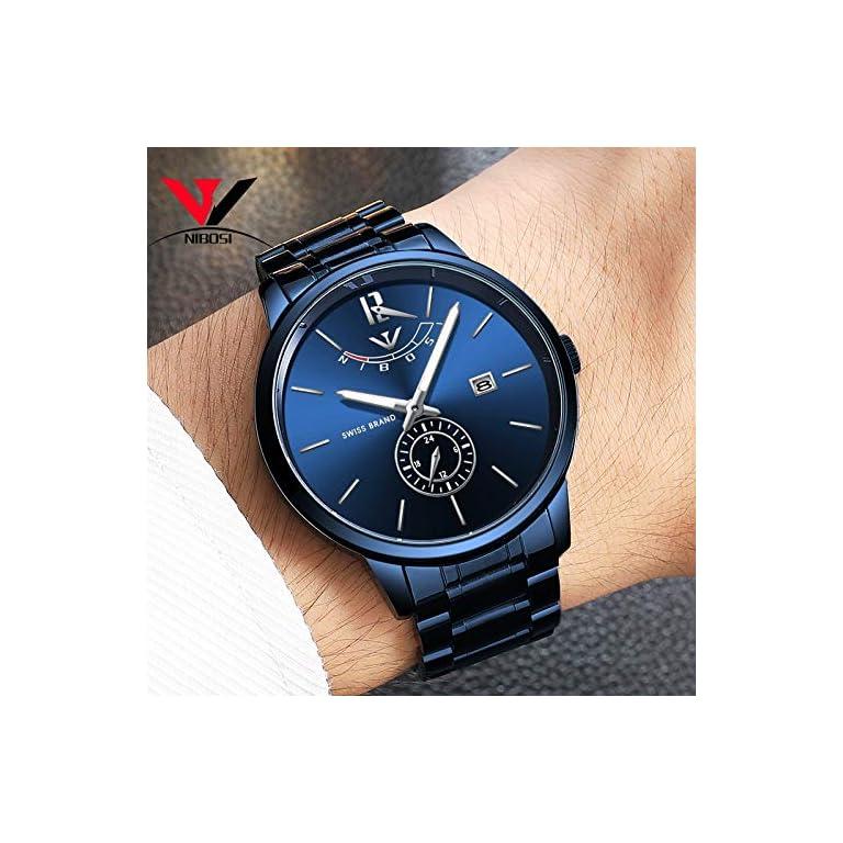 51x7pEyO07L. SS768  - NIBOSI Analogue Black Dial Men's Watch