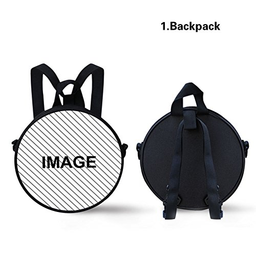 Girls FancyPrint Stylish Print Bag Round for Circle Backpack Dfgca4565i pp0rq