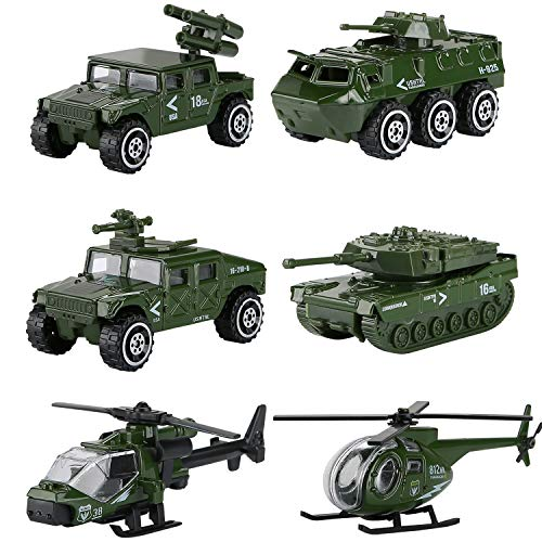 Hautton Diecast Cars Toy Vehicles 6 Pack Alloy Metal Toys