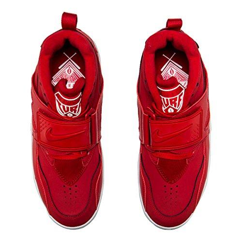 Nike Air Diamant Turf Gym Röd Vit 309434 600 Deion Slipmaskiner Mens Cross Utbildare Röd / Vit