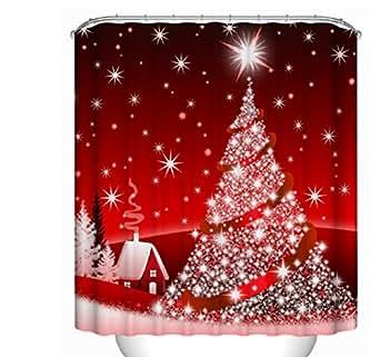Custom Home Decor christmas decoration background Fabric Modern Shower Curtain European Style bathroom Waterproof