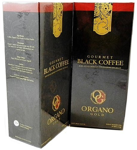 (2 Boxes Organo Gold Gourmet Black Coffee - 60 Sachets)