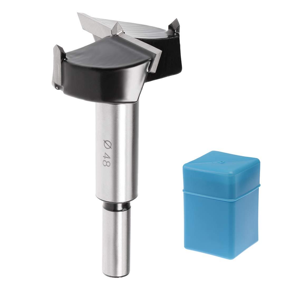 40mm Diameter uxcell Forstner Drill Bit 10mm x 30mm Shank