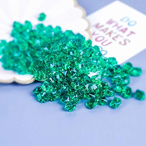 Liying shop Acrylic Ice Rock, 1 Inch Acrylic Faux Ice Cubes Crystals Treasure Gems for Table Scatters, Vase Fillers, Fish Tank, Party Decoration, Arts & Crafts (Emerald Green)