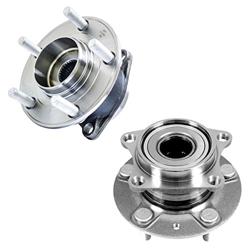 Detroit Axle - New Set of (2) Driver and Passenger Rear Wheel Hub and Bearing Assembly for 2007-2012 Mazda CX7 - AWD (2 Rear Axle Bearings)