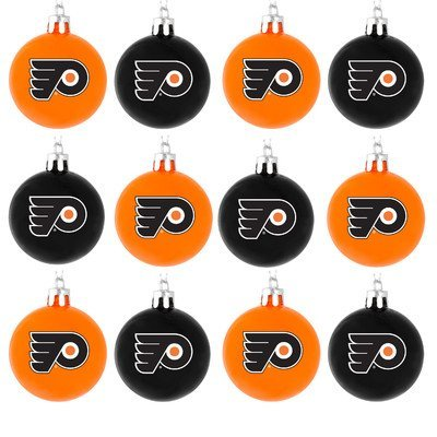 NHL Ball Ornament (Set of 12) NHL Team: Philadelphia Flyers Christmas Displays In Philadelphia