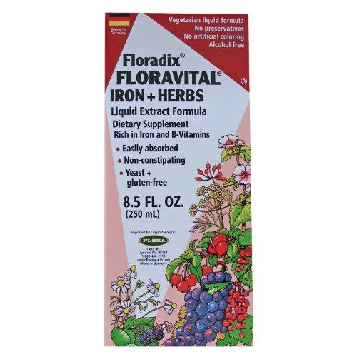 [Salus-Haus - Floradix Floravital Iron & Herbs Yeast Free - 8.5 oz] (Herbal Iron)