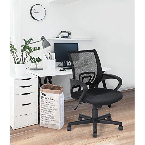 HOMY CASA Mid Back Mesh Ergonomic Computer Desk Office Swivel Chair Black by Homycasa