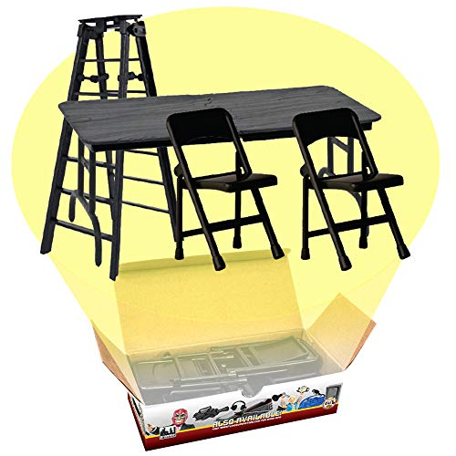 ULTIMATE Ladder, Table & Chairs Black Playset for WWE Wrestling Action Figures by Figures Toy Company