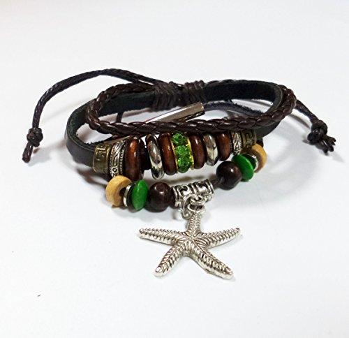 Starfish Leather Bracelet Unisex Wristband (Starfish Adult Costume)