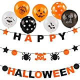 Kesoto Happy Halloween Banners Balloons Set for Halloween Party Decoration Supplies