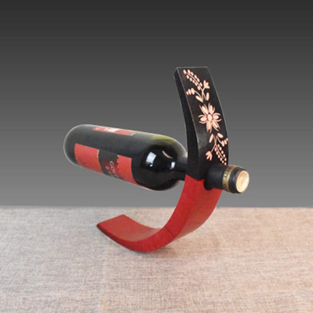 純木ワインラックのリビングルームバーカウンターヴィンテージボトルホルダー装飾 B07RZWXZJ3