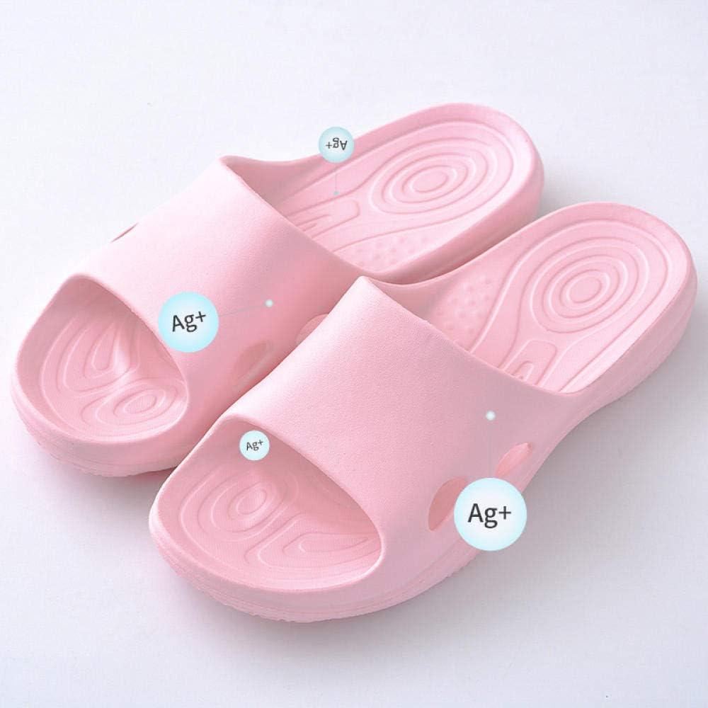 M?nner und Frauen antibakterielle Hausschuhe nach Hause Badeboden weichen Boden Bad rutschfest leicht @ Blue/_38-39