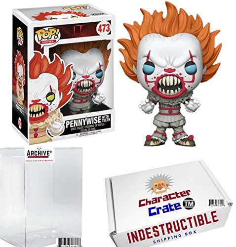Funko Pop  It Pennywise With Teeth  Limited Edition Exclusive  Concierge Collectors Bundle Vinyl Figure