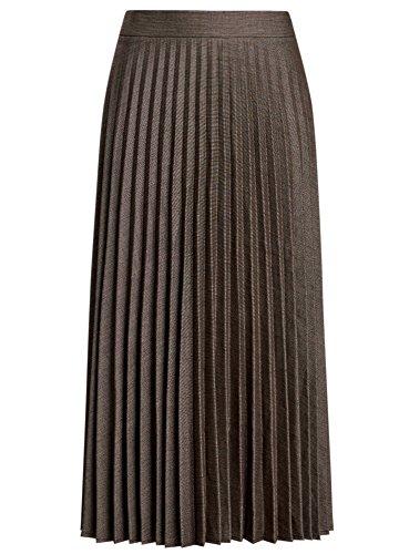 oodji Femme Marron Plisse Jupe 3912g Collection Longue CqFf14C