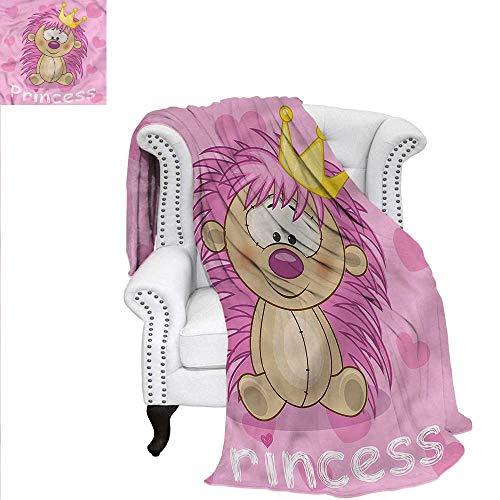 - RenteriaDecor Teen Girls Super Soft Blanket Princess and Hedgehog Velvet Plush Throw Blanket 60