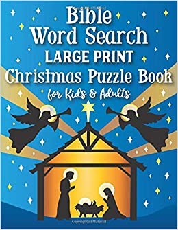 Bible Word Search Large Print Christmas Puzzle Book For Kids And
