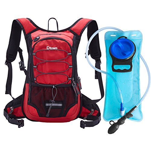 Dtown Hydration Pack Water Backpack for Hiking Biking or Running with 2L Bladder