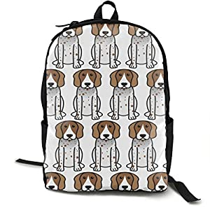 YongColer Fashion Daypack Large Capacity Anti-Theft Multipurpose Carry-On Bag Backpack for Sports Picnic Bicycle - American English Coonhound Cartoon, Camping Outdoor Backpack 3