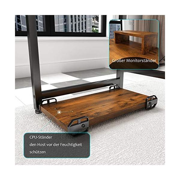 Magic Life Bureau d'angle en forme de L de 56 pouces avec support de moniteur en bois et support pour CPU – Table de jeu…