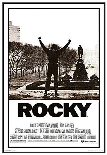 Rocky - Sylvester Stallone Movie - Framed Poster - Quality Black Metal Frame