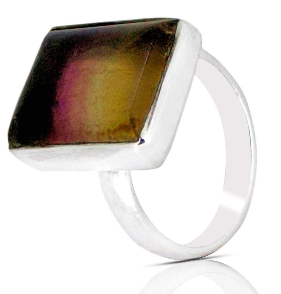 M/s Gajraj Sterling Silver Onyx Cushion Gemstone Ring, US-11.5