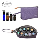 Luxja Essential Oil Carrying Bag - Holds 8 Bottles (5ml-15ml, Including Roller Bottles), Portable Organizer for Essential Oil and Small Accessories, Purple