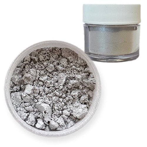 Silver Pearl-Sparkle Edible Luster Dust, 4g Jar | Bakell Food Grade Decorating Glitters & Dusts for Dessert, Foods & Drinks