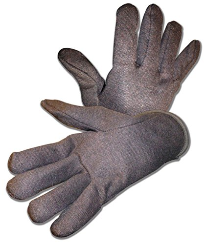 - Red Lined Brown Jersey Glove w Open Cuff, Heavy Weight, 6 Pairs 4308Q/RM