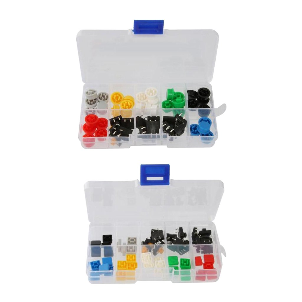 100PCS Tact Tactile Push Button Switch Cap Mutil-Color for 6x6 Series Switch NEW