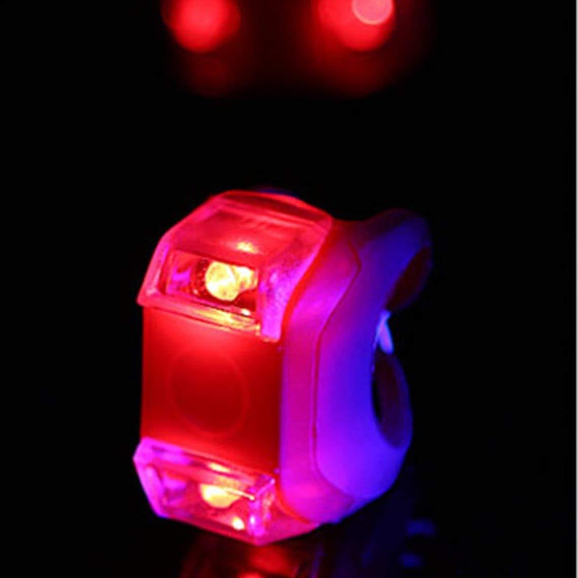 Zinniaya 50mm 45mm 26mm 3 Mode 2 LED V/élo V/élo V/élo T/ête Avant Lumi/ère Arri/ère LED Lampe Flash comprennent Batterie Nouvelle Marque