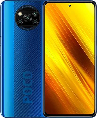 """Poco X3 NFC (Pantalla de 6,67"""" FHD+, DotDisplay, 6GB+64GB, Cámara cuádruple de 64MP, Snapdragon 732G, 5160mAh con Carga de 33W, MIUI 12 para Poco, NFC) Azul Cobalto"""
