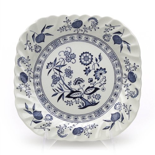 Blue Nordic by Johnson Brothers, China Square Salad Plate
