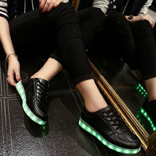 (Presente:pequeña toalla)JUNGLEST USB Carga de la Zapatilla Zapatillas de Deporte Con 7 Colores de Iluminación LED Intermitente Para los Amantes de N c29