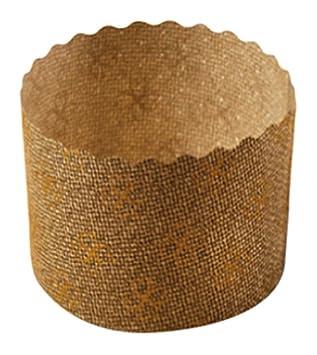 García de Pou Moldes Cocción Panettone, Diámetro 6 x 4.5 cm, Set de 100, Marrón, Papel, 30 x 30 x 30 cm: Amazon.es: Hogar