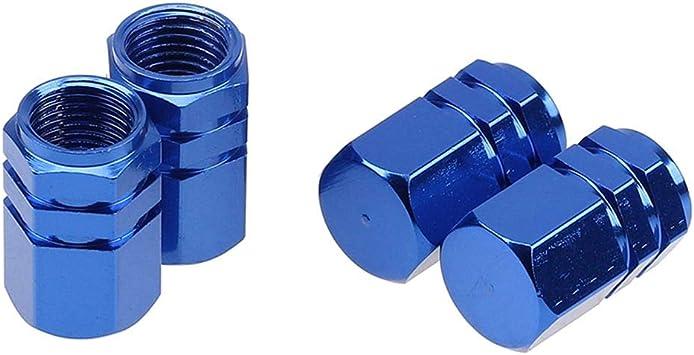Azul GOOTRADES 12Pcs Tapas para V/álvulas de Aire Guardapolvo Tapones de Llantas Neum/áticos para Coche Bici Moto