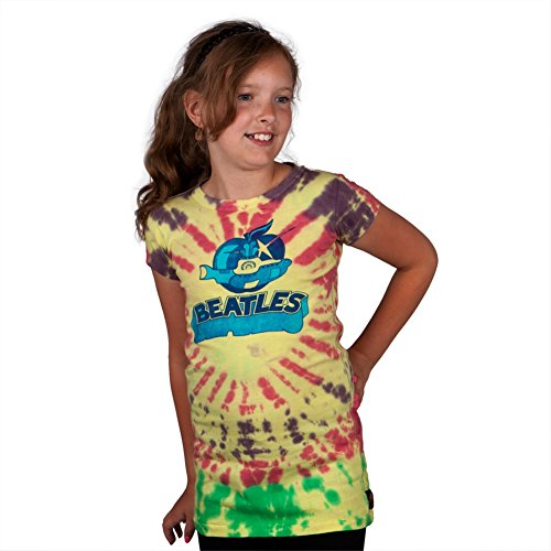 The Beatles - Yellow Sub Tie-Dye Premium Girls Youth T-Shirt - Youth 4/5