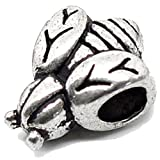 Charm Buddy Honey Bumble Bee Charm Fits Silver Pandora Style Bracelets