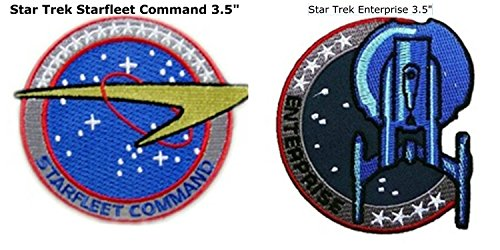Star Trek Collector's 2-Pack Command Badge and Starfleet Enterprise Gift Sets Embroidered Sew/Iron-on Patch/Applique J&C Family Owned -